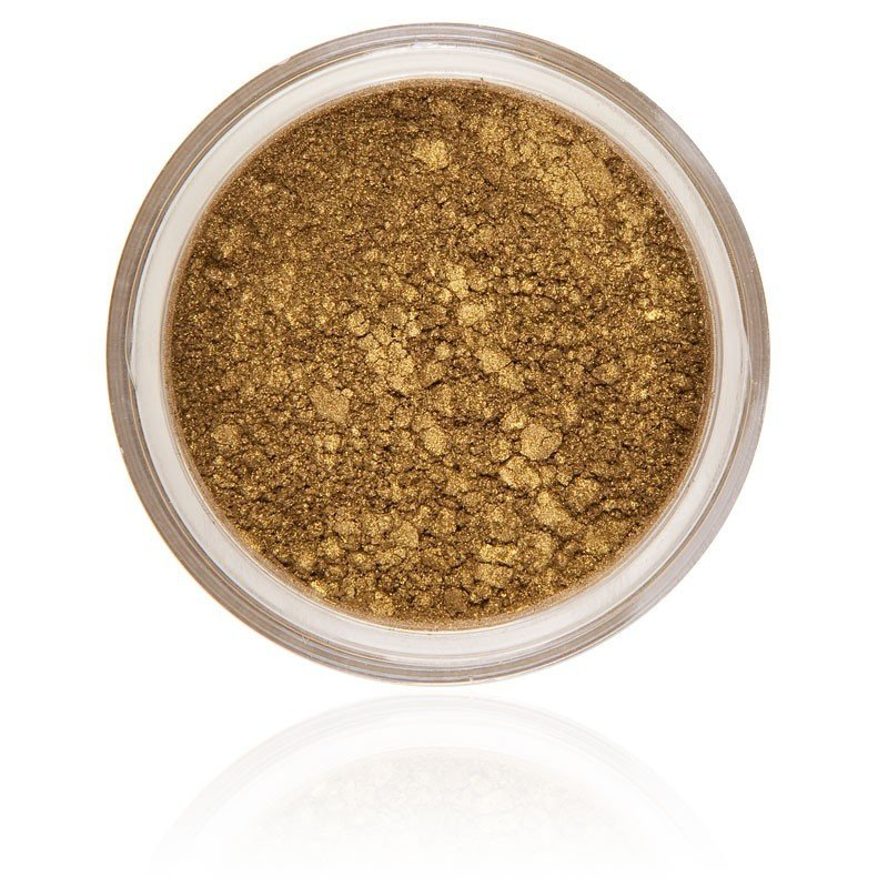 Autumn Eyeshadow, a down-to-earth with a touch of gold color, strongly pigmented and vegan and not animal tested.