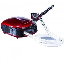 Airbrush Maskin HS-M901 Röd