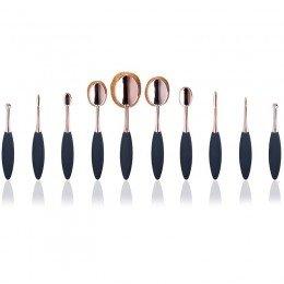 Oval Brushes Rose Gold 10 Set Brushes