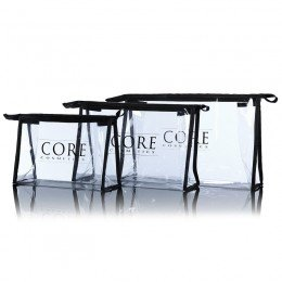 Transparent Kosmetisk Toilette Bag - 3 størrelser CORE cosmetics