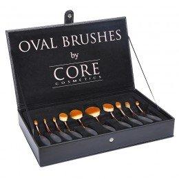 Oval Brushes Rose Gold 10 Set Borstar Box