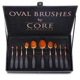 Ovala Borstar Rose Gold 10 Set Borstar i Box   CORE cosmetics