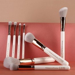 White Rose Gold 8 Set Professional Makeup Brushes - makeup brushes in the highest quality