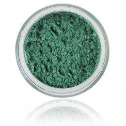 Mineral Eyeshadow Ocean | 100% Pure Mineral & Vegan. Mineral makeup, strong green / shimmery color.