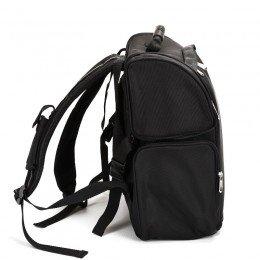 Sidan på vår make-up väska visar även remmar för att bäras på ryggen